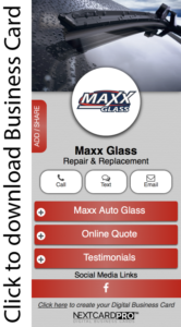 business card maxx glass